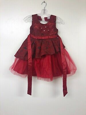 Lace Flower Girl Pageant Holiday Dress , 4-5 Years, ( Burgundy 120 )  Burgundy Flower Girl Pageant Dress