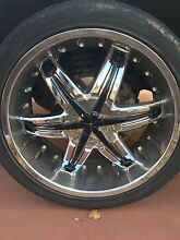 """navara d40,hilux, multi stud 22"""" mags with tyres Gawler East Gawler Area Preview"""