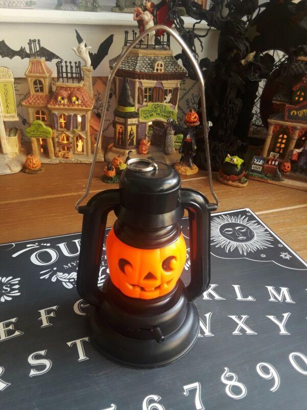 Vintage Blow Mold Halloween Jack O Lantern Pumpkin Hanging Lamp lantern🎃