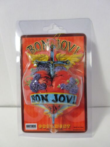 Very Rare Jon Bon Jovi Heart & Dagger Tour Ornament Hanging Car Mirror VTG NOS