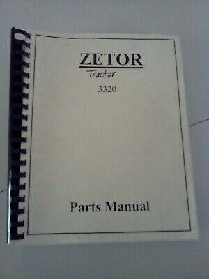 Zetor Tractor - Parts Manual - 3320 Tractor