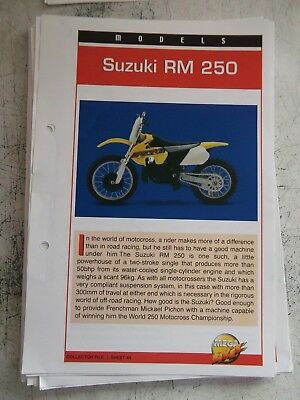 SUZUKI RM 250 collector file fact sheet.