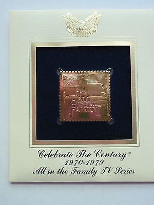 ALL IN THE FAMILY EDITH ARCHIE 60's 22kt Gold Golden replica Day FDC Cover Stamp