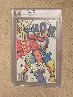 Thor #337 PGX 9.6 WHITE Signed Walt Simonson (1st Appearance of Beta Ray Bill)