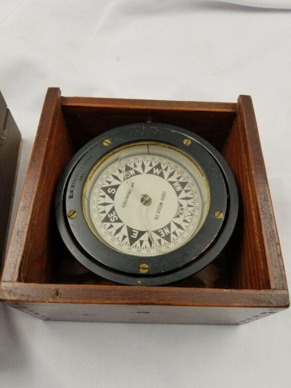 E.S. Ritchie Compass Gimbal Vintage Nautical Compass