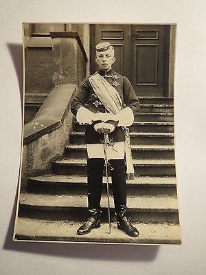 Jena - Landsmannschaft Burgundia - 1920er Jahre - Herbert Schenk in Wichs / Foto ()