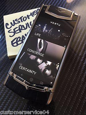 Veritable Vertu Android Ti Unspeakable Alligator Self-indulgence Phone Wonderful RARE Label NEW
