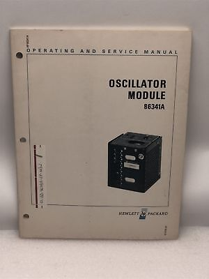 Hp 86341a Oscillator Module Operating Service Manual