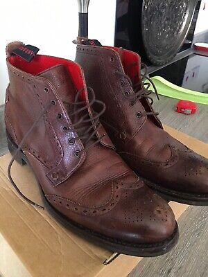 Jeffrey West Brogue Boots Size 8