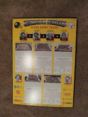 Pittsburgh Steelers Store (PITTSBURGH STEELERS Super Bowl Teams Store Display Poster Board 20 x 28 RARE)