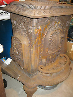 1865 Centennial Antique Cast Iron Coal Wood Burning Parlor Stove Made In Troy,ny