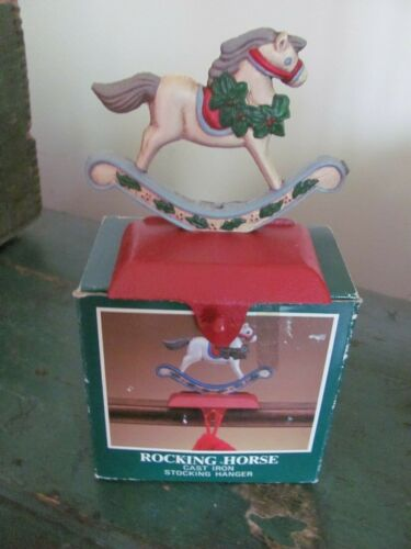 Midwest of Cannon Falls Rocking Horse Cast Iron Stocking Hanger with Box