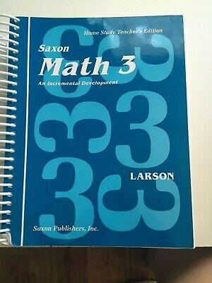 Saxon Math 3 Teacher's Edition  - GOOD