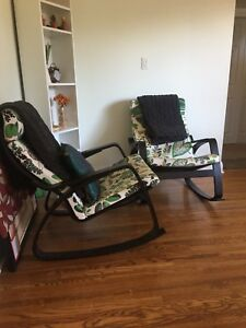 2 Ikea poang rocking chair