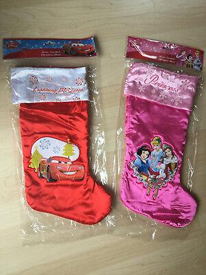 Disney Weihnachtssocke Cars Princess Nikolaus Stiefel Weihnachtsschmuck Deko ()