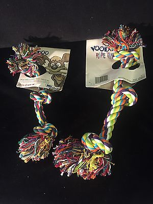 Dog Rope Chew Toys For Tug A War & CLEANING TEETH Lot Of 2 BRAND NEW!!!