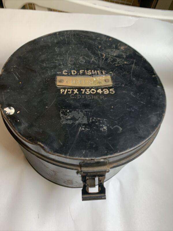Antique WW1 Royal Navy Sailor Tin Metal Cap Box