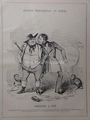 A Cartoon Rat (c1843 SMELLING A RAT - CANADA CORN - THOMAS DUNCOMBE Punch Satirical)