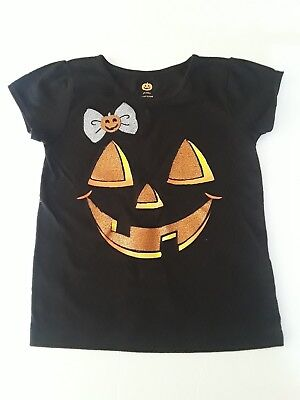 Girls Simple Halloween Pumpkin Patch Face Black Toddler Shirt 3T Jack O Lantern - Simple Halloween Pumpkin