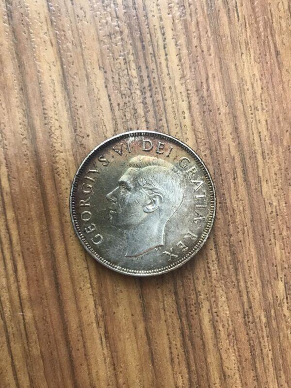 1952 Canadian Silver Dollar Coin Canada Dollar