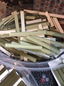 Mosaic Green Glass Strips