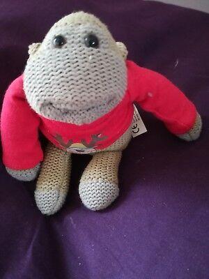 P G tips monkey Christmas teddy bear