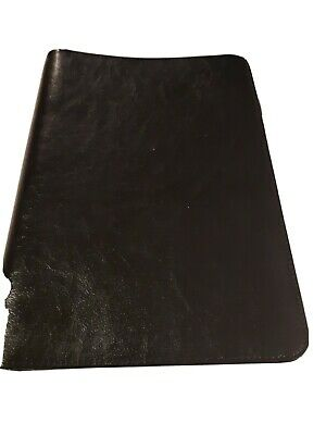 Leather 3-ring Binder Planner Portfolio - Black Clean