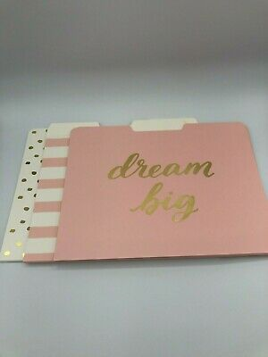 Threshold Dream Big File Folders Pinkgoldwhite 12 Ct