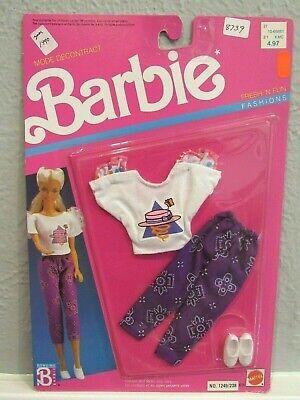 NEW BARBIE 1989 FRESH 'N FUN FASHIONS - CLASSIC 80'S PURPLE CAPRI PANTS  - MOC
