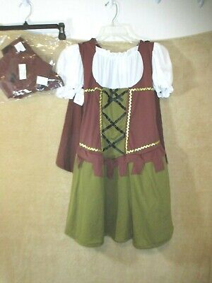 NWT Wonderland Sweetheart Robin Hood  Costume Girls size XL 4pcs - Robin Hood Costume For Girls