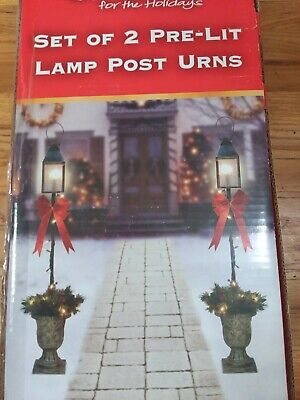 "42"" Pre Lit Christmas Lamp Post Clear Lights"