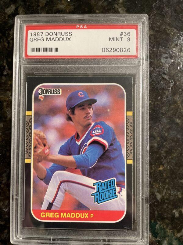 Bonds Maddux Rookies 1987 Donruss Baseball Complete Set 660