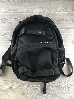 Burton Black Skateboard/laptop Backpack School Chest Strap