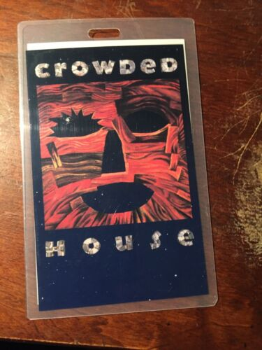 CROWDED HOUSE RARE Release Party pass WOODFACE 1991 ORIGINAL
