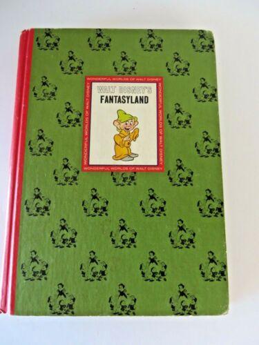 Wonderful Worlds Of Walt Disney Fantasyland Hardcover Golden Press 1965 #1643