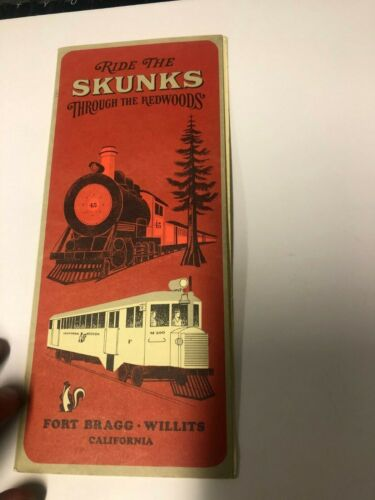 RIDE THE SKUNKS California & Western Railroad Fort Bragg/Willits brochure