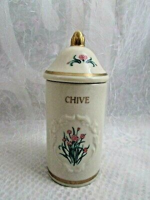 The Lenox Spice Garden Spice Jar Collection 1992  ~ REPLACEMENT ~ CHIVE Lenox Spice Jar