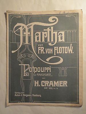 NOTEN - Friedrich von Flotow - Martha - H. Cramer op. 120 No. 14 / Piano