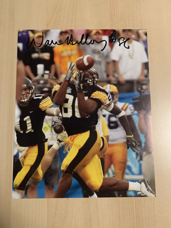 WARREN HOLLOWAY IOWA HAWKEYES SIGNED 8x10 PHOTO AUTOGRAPHED THE CATCH COA