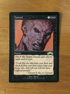 MTG Exodus * Hatred * x1  M-/NM+   Out of pack, Never Played
