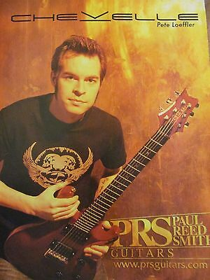 Chevelle, Pete Loeffler, PRS Guitars, Full Page Promotional Ad