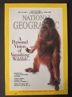 National Geographic  A Personal Vision Of Vanishing Wildlife  April 1990