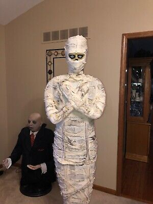 Spirit Halloween Life Size 6 Ft Mummy Light UpNoises Gemmy Morbid Rare Htf - Gemmy Halloween Life Size