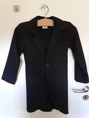 schwarzer Frack, Größe 140, Halloween Verkleidung Kostüm für Jungen oder Mädchen