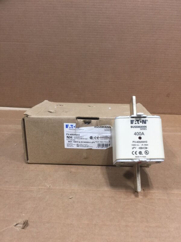 HOUSTON STOCK NEW EATON PV-400ANH3 SQUARE BODY FUSE 400 A 1000V FREE 2 DAY AIR