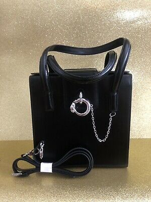 Cartier Black Leather Panthere Small Handbag With Chain, OPTIONAL SHOULDER STRAP