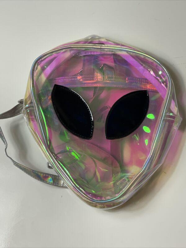 Holographic Alien Backpack Bag Alien Face Weirdling
