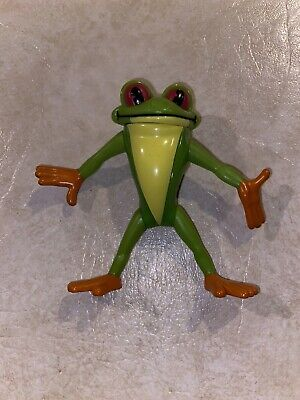 """Vintage 2000 Rain Forest Cafe Green Tree Frog Action Toy Figure 2.75""""!"""