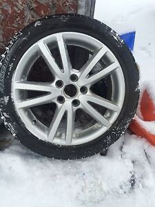 """Vw rims 5x112 17"""" with winter tires"""