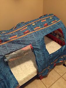 Toddler Cars bed with mattress and canopy